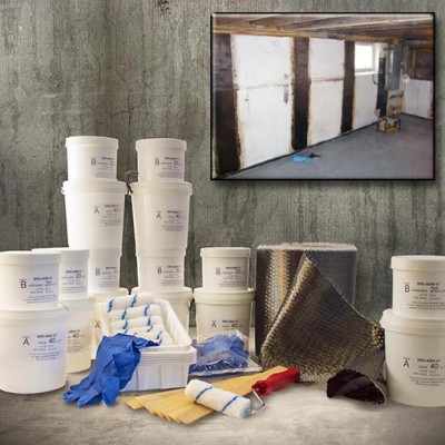 128 foot bowing wall fabric repair kit