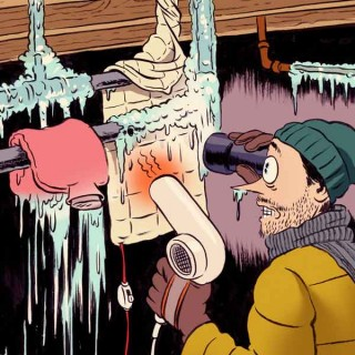 Homeowner Survival Skills 101: thawing frozen pipes. Illustration Credit: This Old House